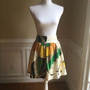 TIBI Silk Sunflower Print Skirt Sz.2